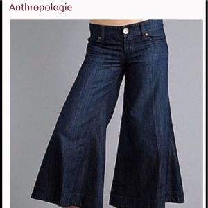 Level 99 Wide Leg Gaucho Culottes Jeans